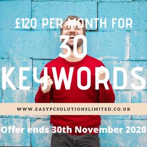 30 keywwords for £120 per month