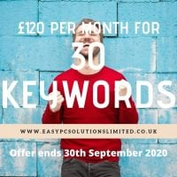 30 Keywords For £120 Per Month