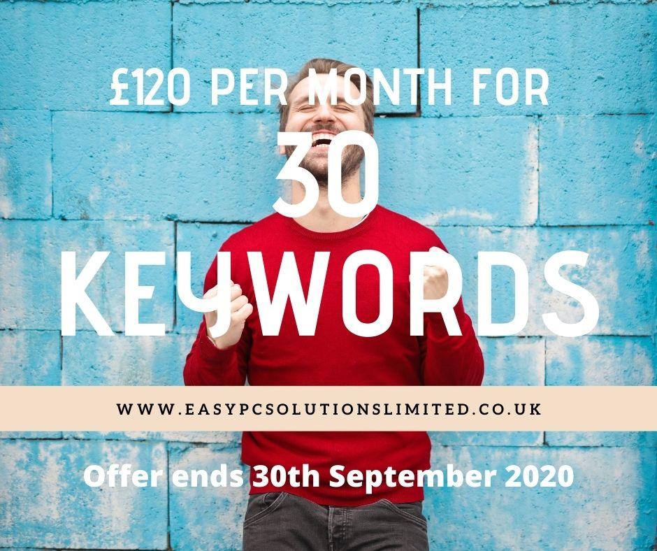 30 Keywords For £120 Per Month