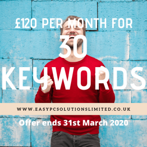 £120 per month for 30 keywords