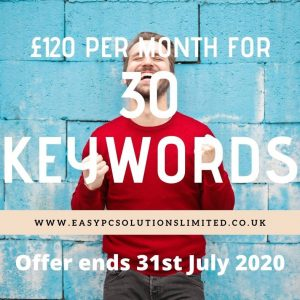 £120 Per Month for 30 keywords seo promo offer